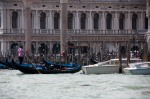 Gondolas working near St. Mark's Square